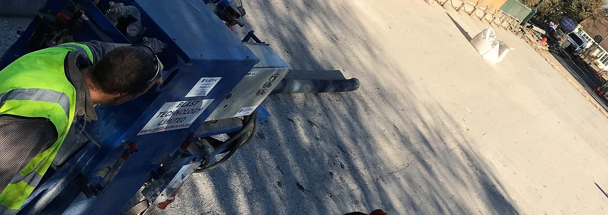 Captive Shot Blasting Concrete Bridge Decks