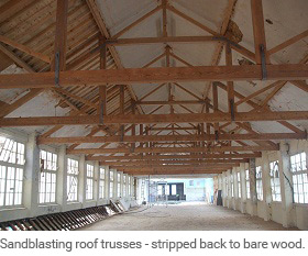 Sandblasting restoration services