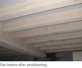 Sandblasting oak restoration