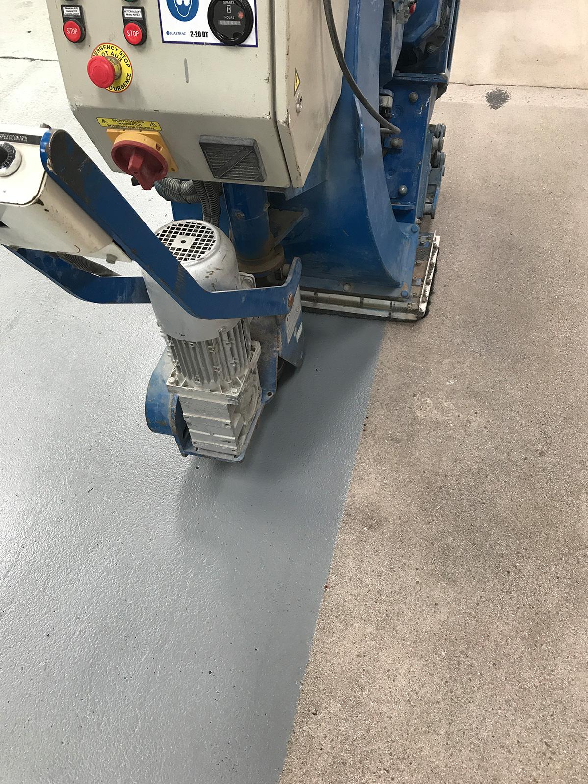 applying non-slip floor paint