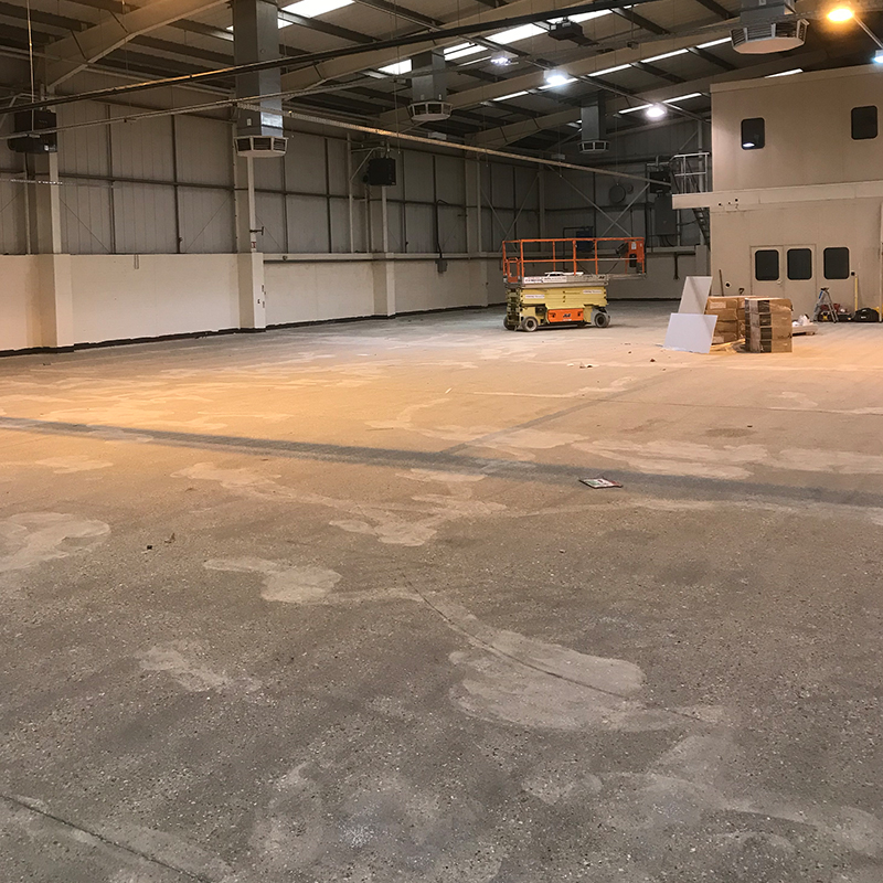 removal of paint from warehouse floor