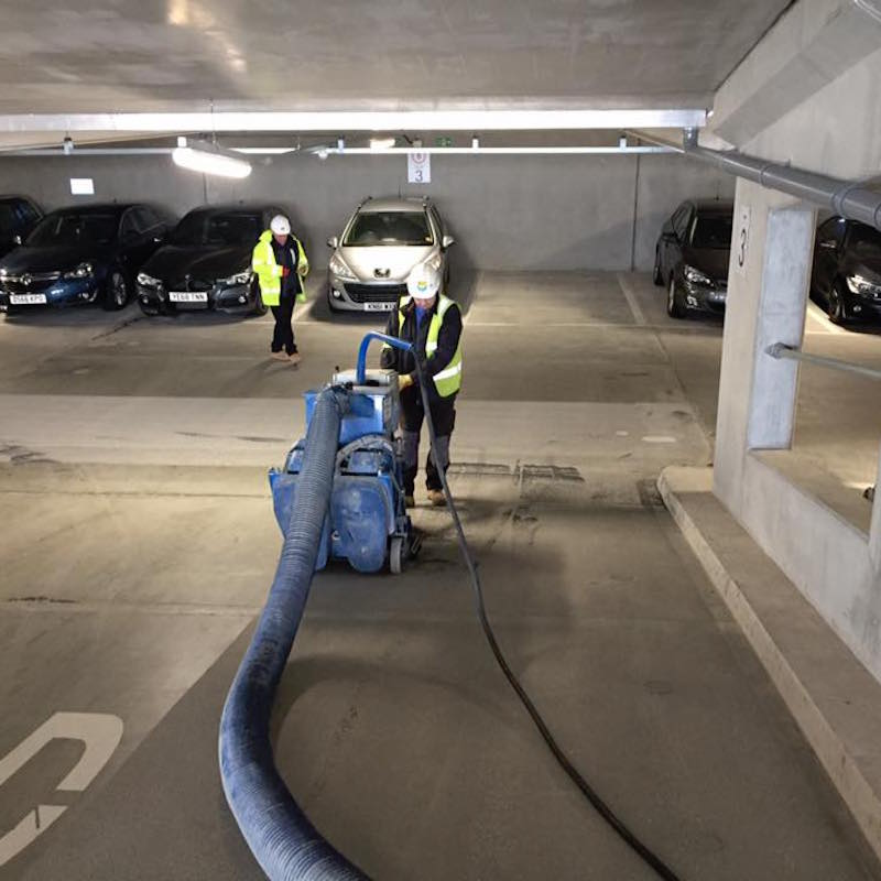 Shot Blasting Car Park Floor for anti-slip surface