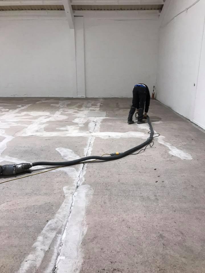 Diamond Grinding of factory floor