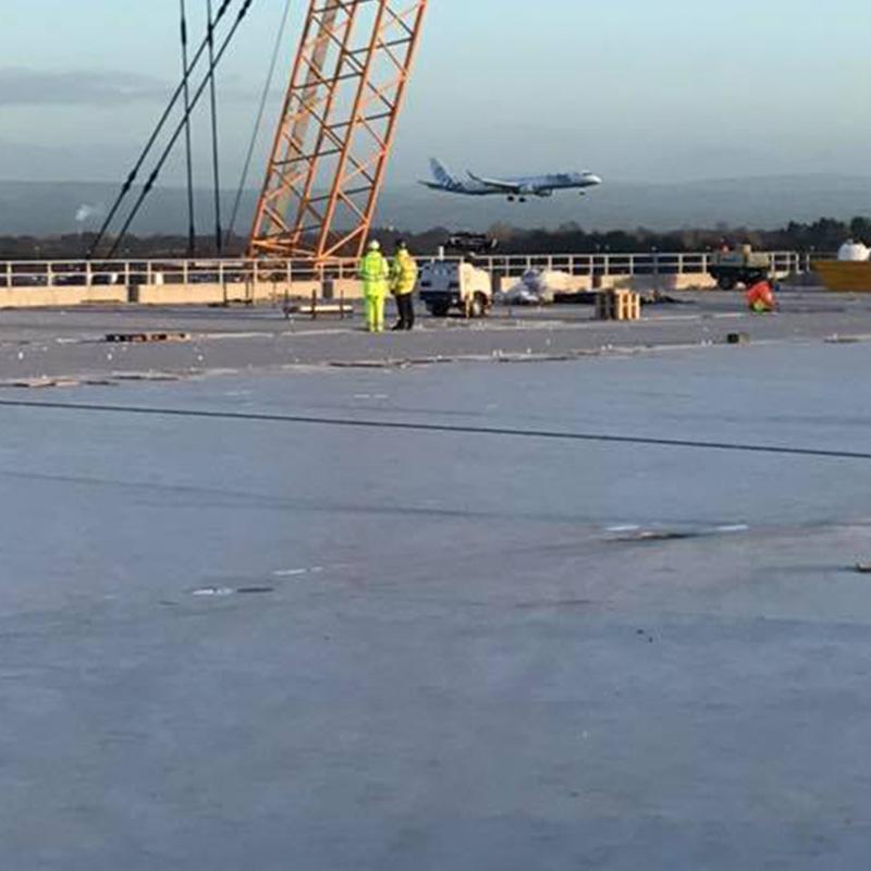 Shot blasting of new Airport Car Park