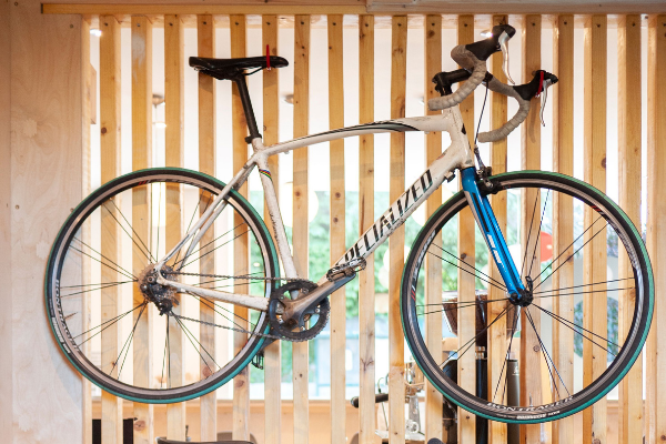 Bike in workshop