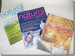 Natural Home and Garden magazine issues