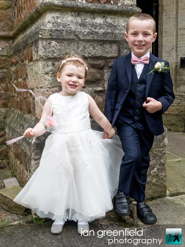 page boy and flower girl,