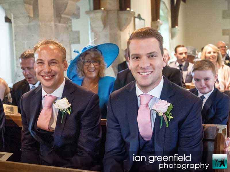 groom and best man, wedding photographer at Aldwark Manor York, ian greenfield photography,
