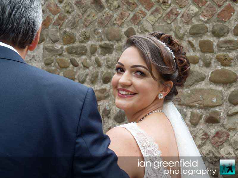 bride and father, wedding photographer at Aldwark Manor York, ian greenfield photography,