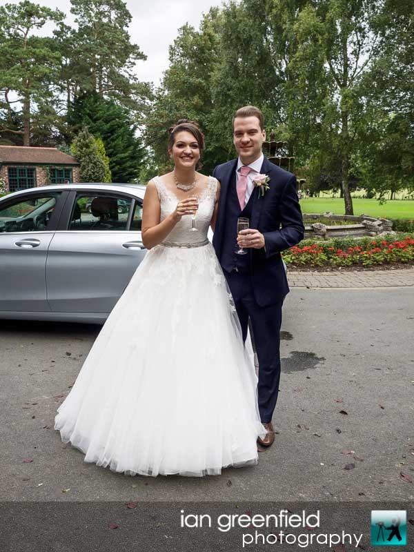 arriving at reception, wedding photography, aldwark manor photographer, york, ian greenfield photography