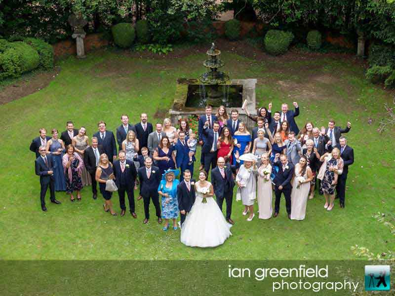 all of the guests, wedding photography, aldwark manor photographer, york, ian greenfield photography