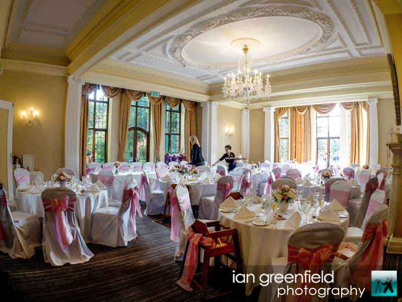 wedding chair covers, wedding photography at Aldwark Manor, ian greenfield photography,