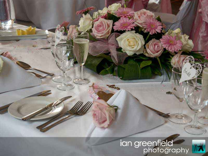 table settings, wedding photography at Aldwark Manor, ian greenfield photography,