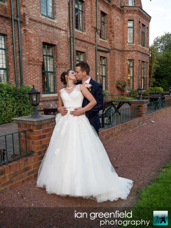 outside wedding photography at Aldwark Manor, Bride and groom wedding photographer, aldwark manor photographer, york, ian greenfield photography