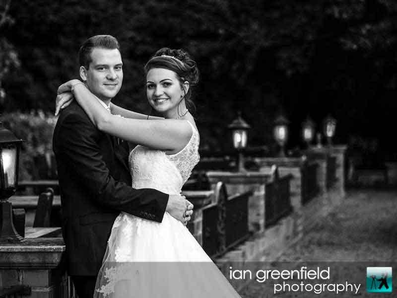 dusk wedding photo, Wedding Photographs taken at Aldwark Manor, Yorkshire professional wedding photographer, aldwark manor photographer, york, ian greenfield photography