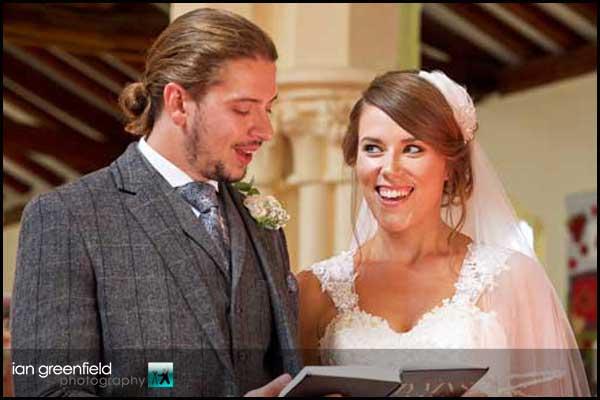 singing wedding hymn hirst priory wedding
