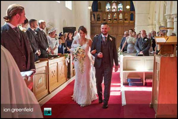 walking down the aisle hirst priory wedding
