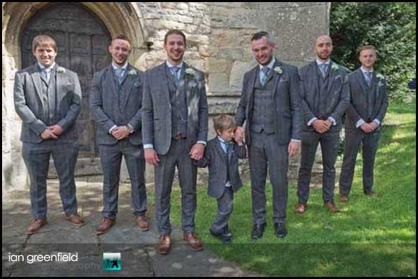 groom with groomsmen hirst priory wedding
