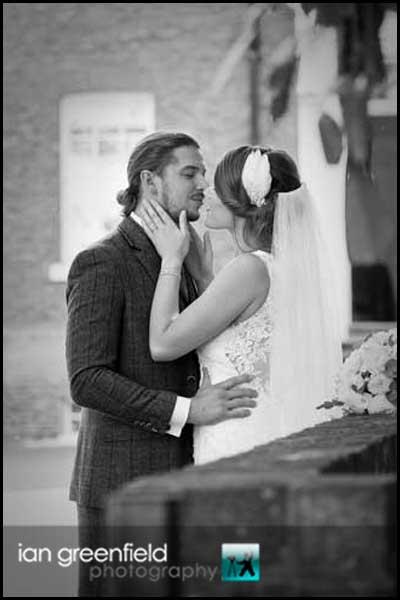 wedding kiss priory wedding