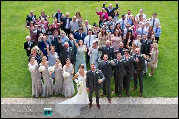 wedding guest photo hirst priory wedding