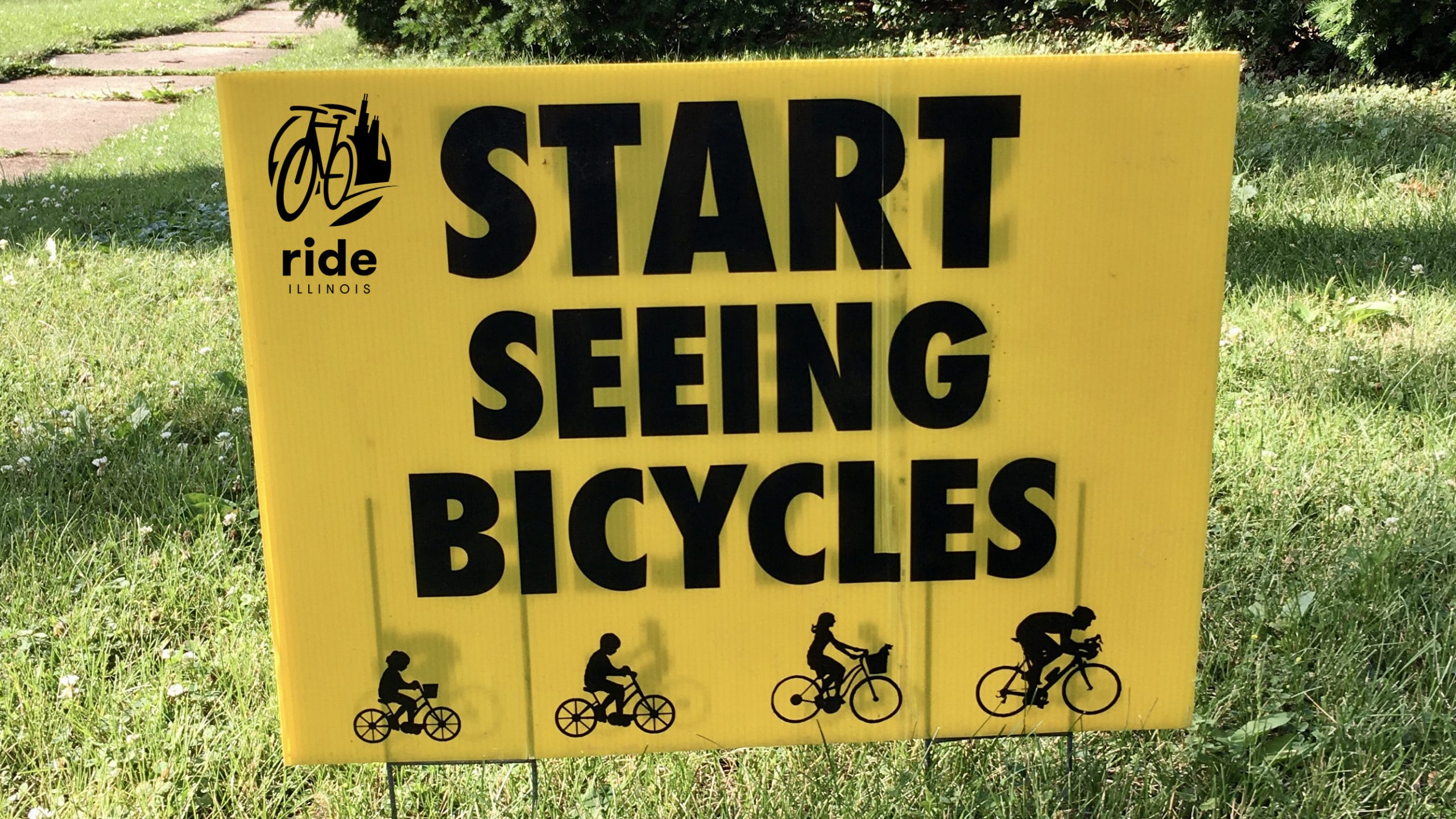 Start Seeing Bicycles Sign
