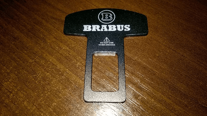 1 x Car Safety Belt Alarm Stopper Clip [BRABUS]