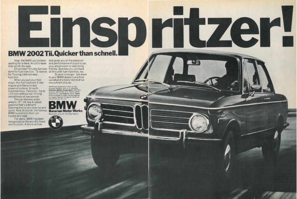 BMW 20023 Tii Advert