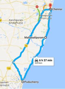 Tamil Nadu - Route