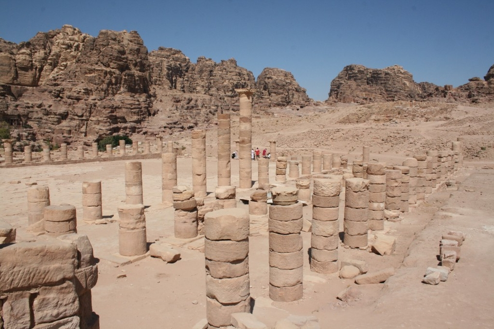 Ancient columns of the Great Temple
