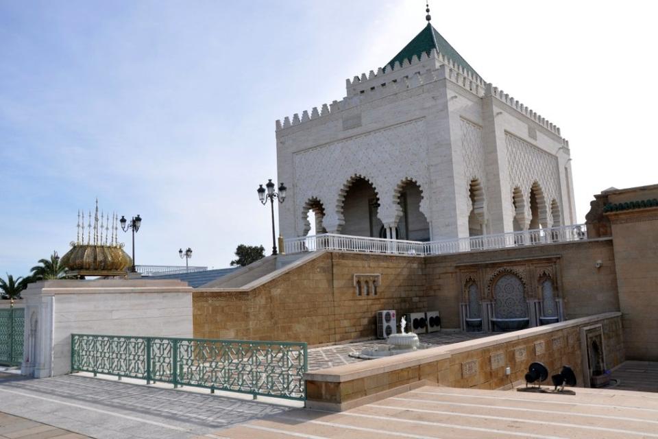 Entrance Mausoleum of Mohammed V Rabat Casablanca