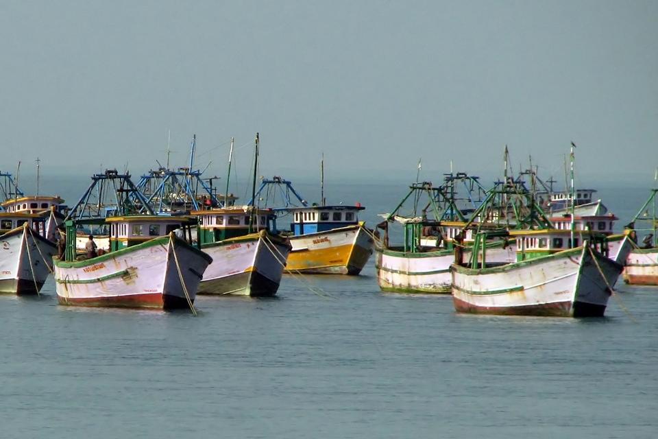 Fishing Boats at Rameshwaram