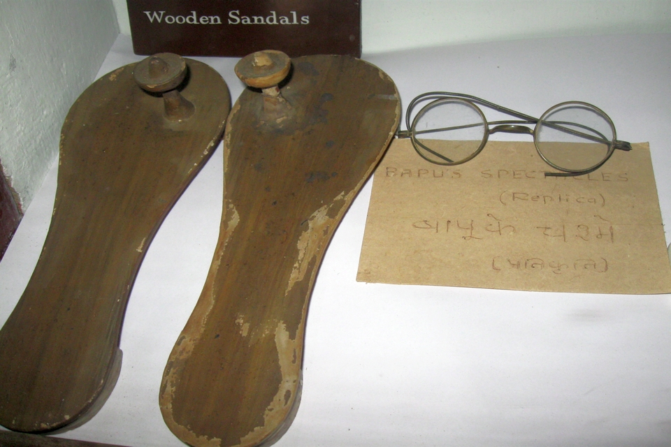 Gandhiji's Chappal and Spectacles