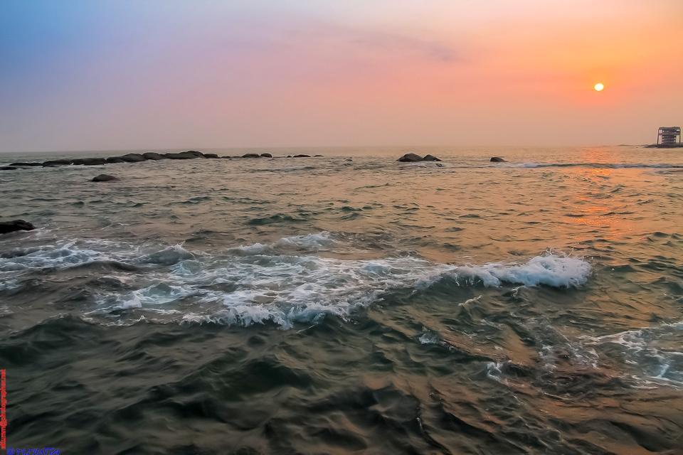 Kanyakumari at Sunset