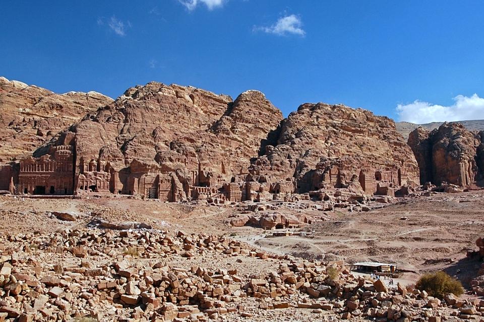 View of Royal Tombs, Petra