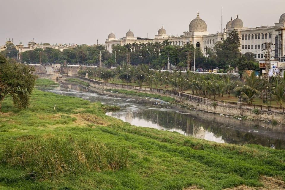 Salar Jung Museum and Musi river
