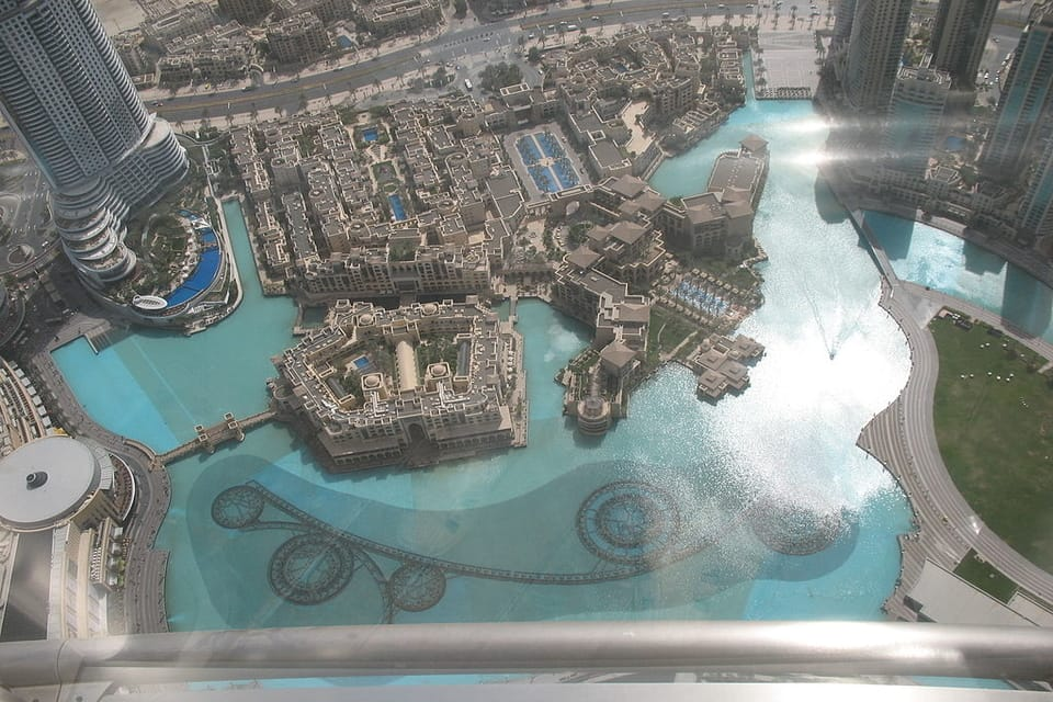 Dubai Fountain from the Top of Burj Khalifa