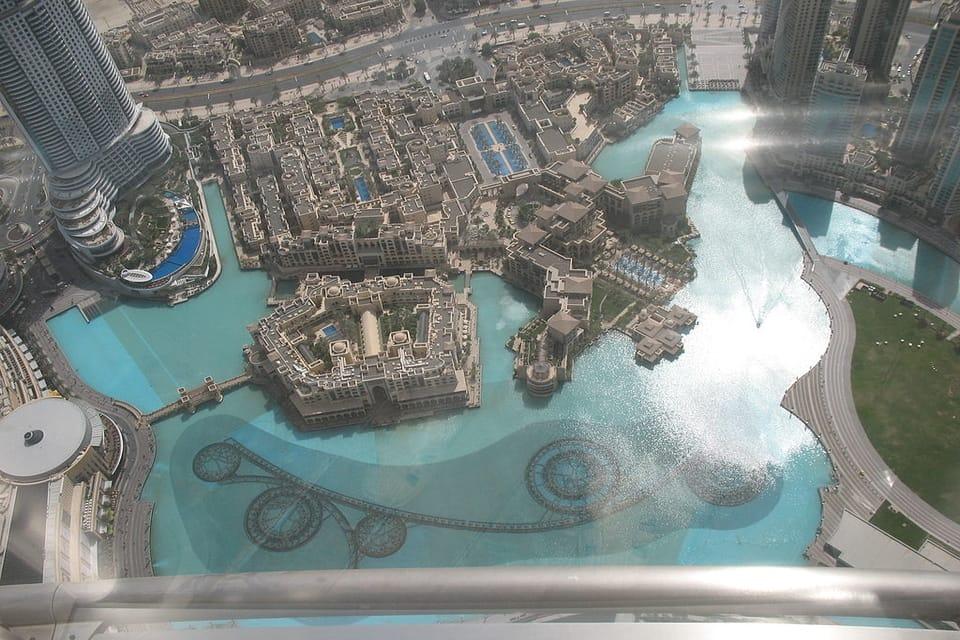 Dubai Fountain from the Top of Burj Khalifa