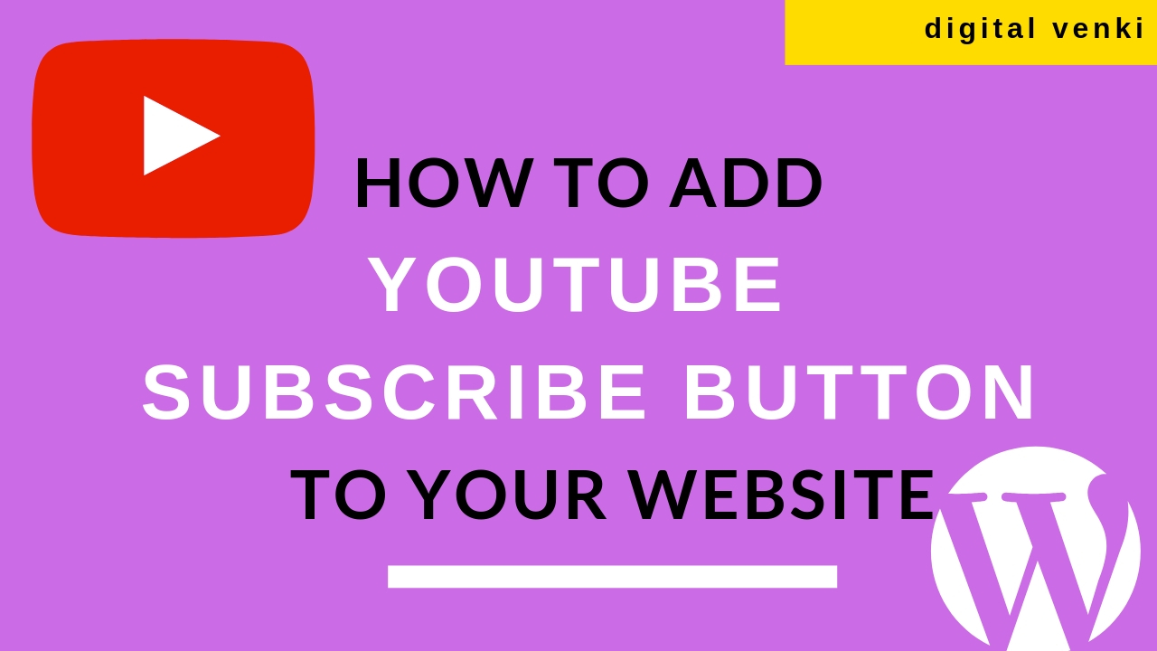 How to Add YouTube Subscribe Button to Your Website 2019