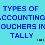 Types of Accounting Vouchers in Tally