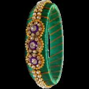 Grand Green stone kada Bangle