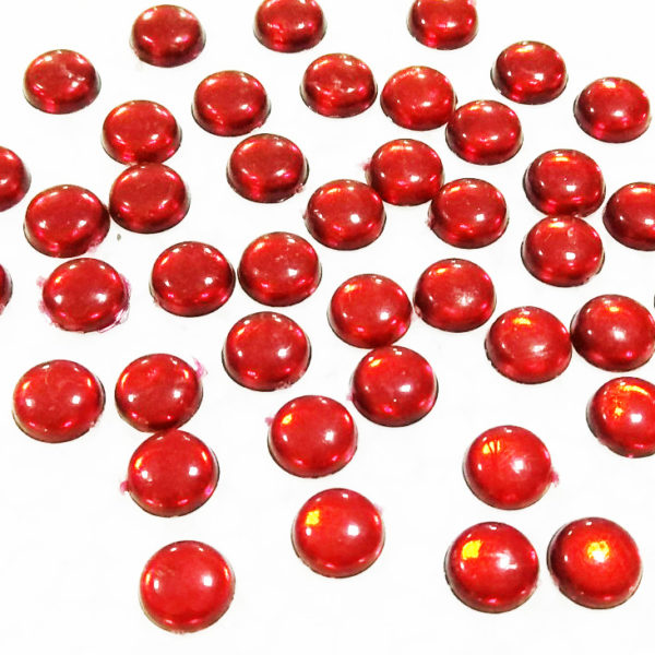 8MM ROUND SHAPE KUNDANS RED