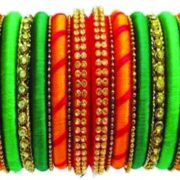 BEATIFUL LOOK TO YOUR SILK THREAD MULTI COLOR BANGLES