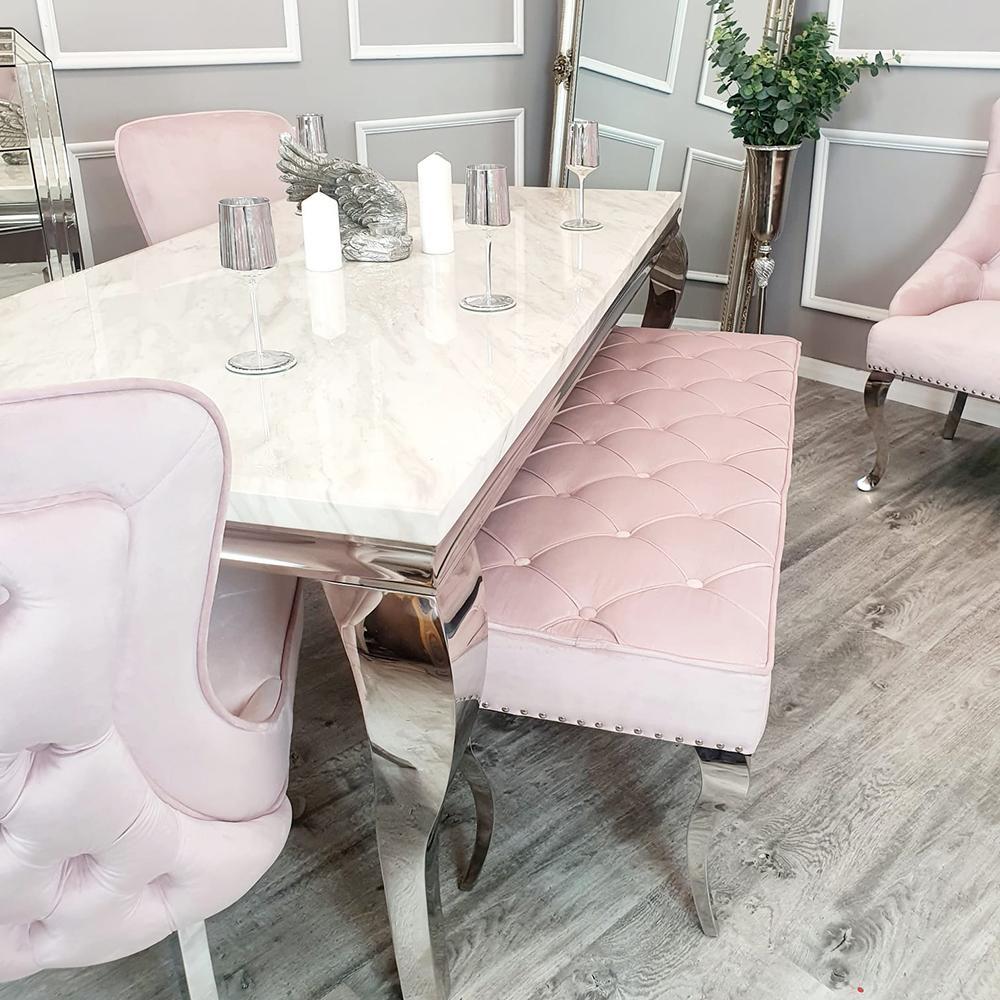 Louis pink dining set