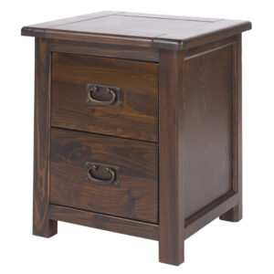 Quality bedroom furniture from the Boston range. Boston 2 drawer bedside cabinet.