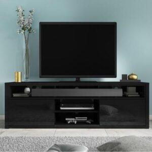 large black gloss tv unit 1