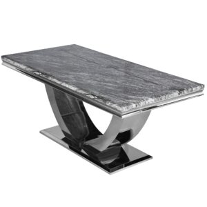 dark grey marble table