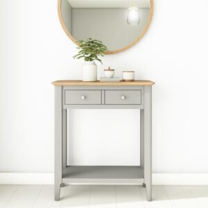 grey and oak console table
