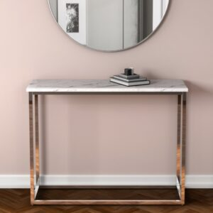 MARBLE EFFECT CONSOLE TABLE