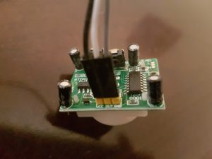 PIR motion sensor module - connections