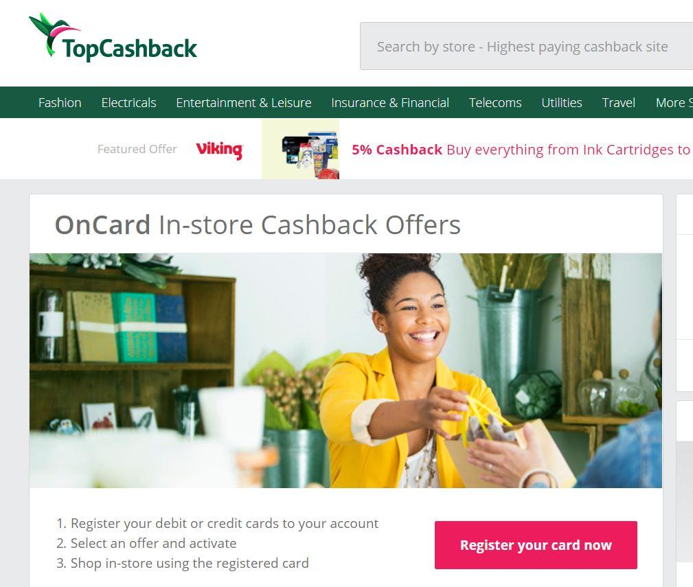 topcashback earn cashback in store